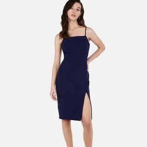 Express Front Slit Sheath Dress in Purple